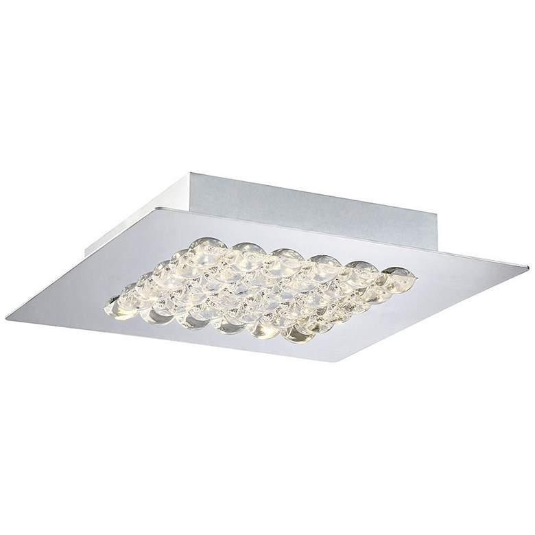"""Eurofase Denso 9 3/4"""" Wide Chrome 1-Light LED Ceiling Light"""