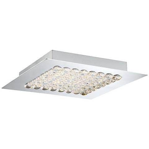"""Eurofase Denso 11 3/4"""" Wide Chrome 1-Light LED Ceiling Light"""