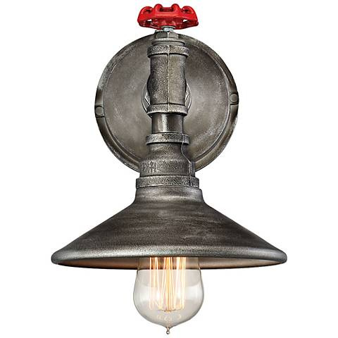 "Eurofase Zinco 14"" High Aged Silver Wall Sconce"