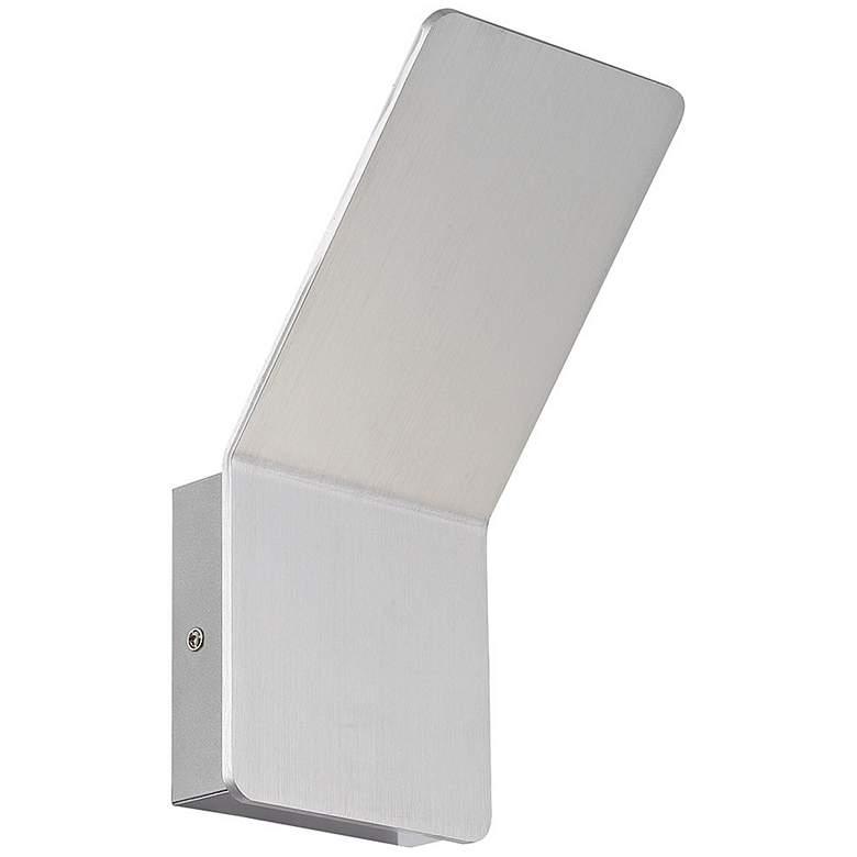 "Delroy 9 1/2"" High Aluminum Finish Modern LED"