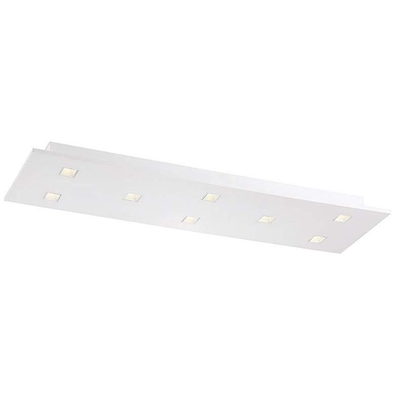 """Eurofase Kano 35"""" Wide Aluminum 8-Light LED Ceiling Light"""