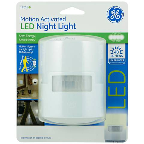 GE White Motion Activated LED Night Light