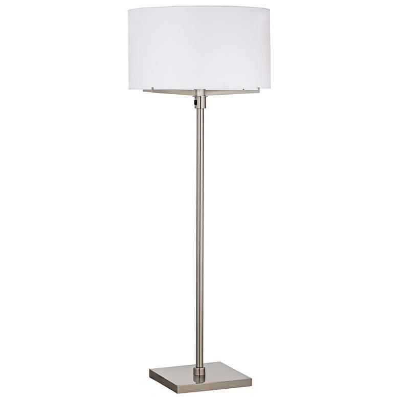 9F216 - Brushed Nickel and Steel Finish, Metal Floor Lamp