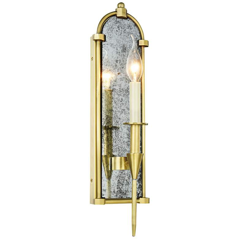 "Bavaria 19"" High Burnished Brass 1-Light Wall Sconce"