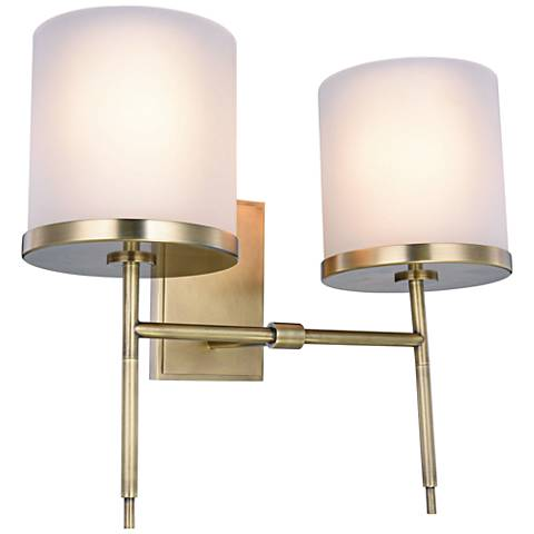 "Bradford 17"" High Burnished Brass 2-Light Wall Sconce"