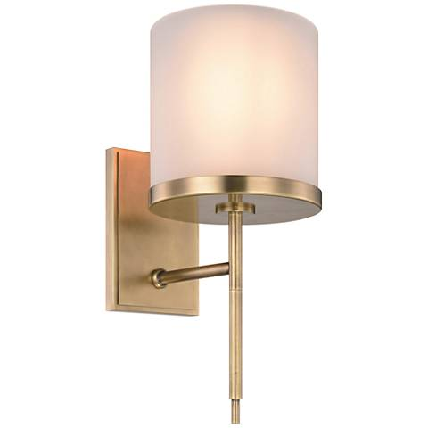 "Bradford 17"" High Burnished Brass 1-Light Wall Sconce"