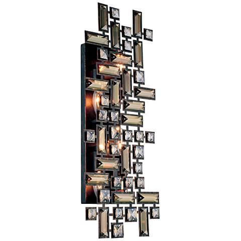 "Picasso 9"" High Dark Bronze 4-Light Wall Sconce"