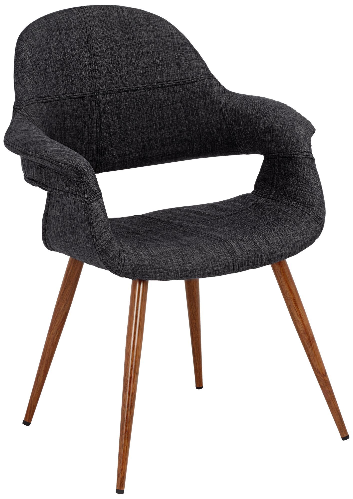 Phoebe Modern Charcoal Fabric Accent Armchair