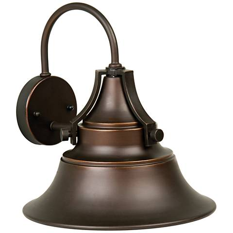 "Union 16 1/4"" High Gilded Oiled Bronze Outdoor Wall Light"