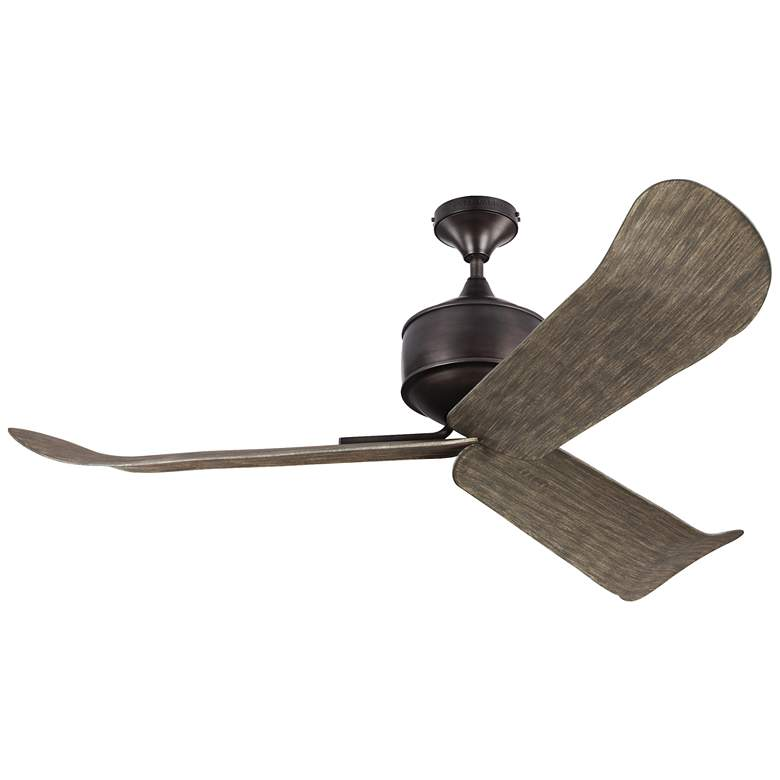 """56"""" Monte Carlo Dylan Aged Pewter Wet-Rated DC Ceiling Fan"""
