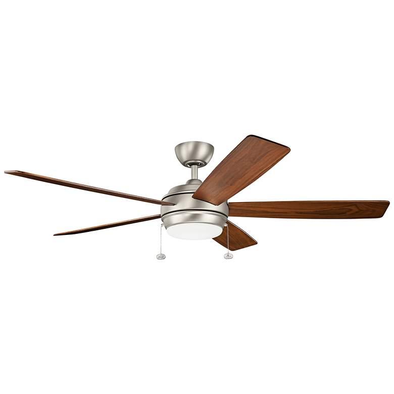"60"" Kichler Starkk Brushed Nickel LED Ceiling Fan"