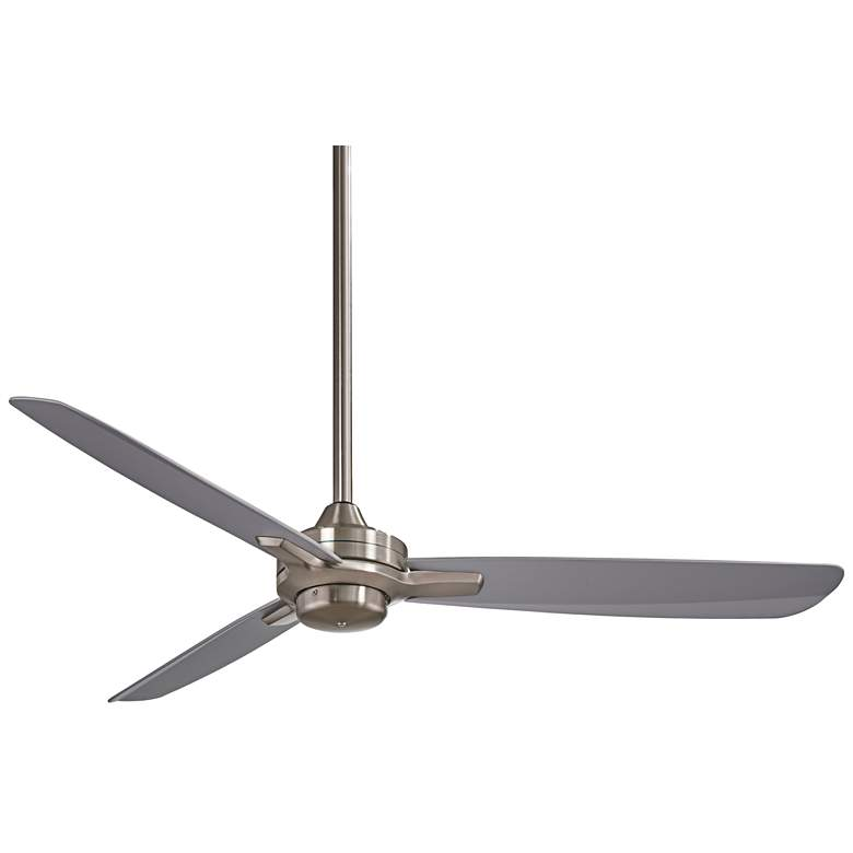 """52"""" Minka Aire Rudolph Brushed Nickel - Silver Ceiling Fan"""