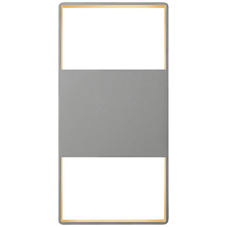 "Light Frames 14""H Textured Gray LED Outdoor Wall Light"