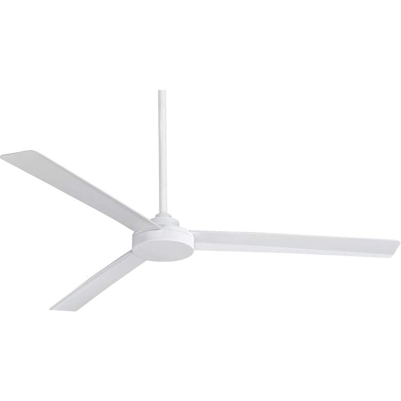 "62"" Minka Aire Roto XL Flat White Outdoor Ceiling Fan"