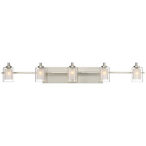 "Quoizel Kolt 42"" Wide Brushed Nickel LED Bath Light"