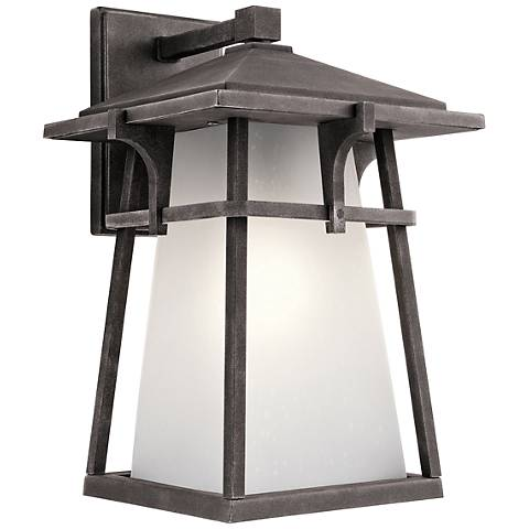 "Kichler Beckett 14 1/2""H Zinc Medium Outdoor Wall Light"
