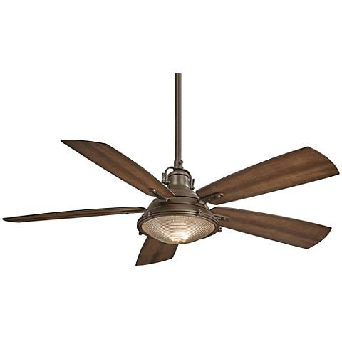 "56"" Minka Aire Groton Oil Rubbed Bronze Outdoor Ceiling Fan"