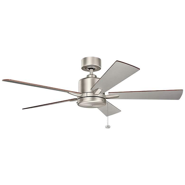 """52"""" Bowen Pull Chain Brushed Nickel Ceiling Fan"""