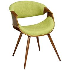 Butterfly Green Fabric Side Chair