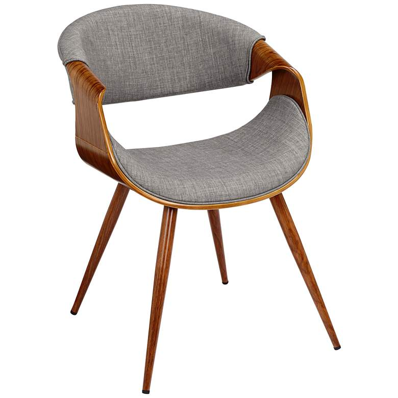 Admirable Butterfly Gray Fabric Modern Side Chair Lamtechconsult Wood Chair Design Ideas Lamtechconsultcom