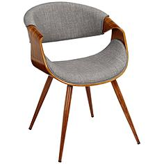 Butterfly Gray Fabric Modern Side Chair