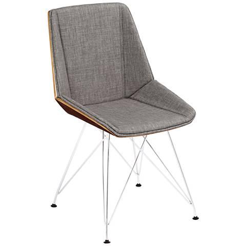 Pandora Mid-Century Modern Gray Accent Chair