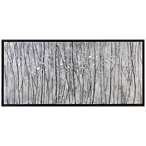 "Uttermost Snowfall Hand-Painted 64"" Wide Canvas Wall Art"