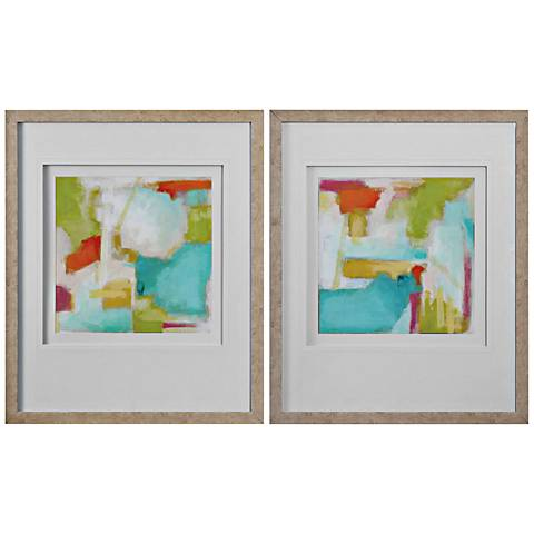 "Uttermost Color Space 2-Piece 39 3/4"" H Framed Wall Art Set"