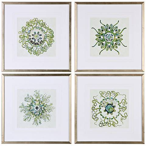 "Organic Symbols 4-Piece 21 1/2"" Wide Framed Wall Art Set"