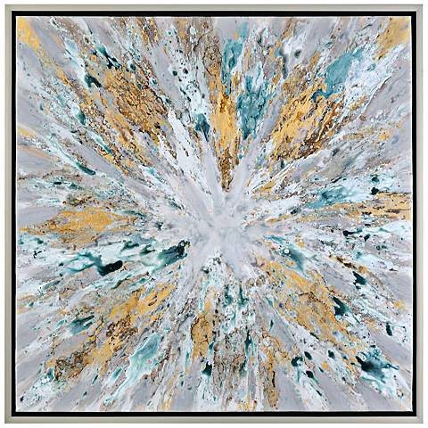 """Uttermost Exploding Star 39 1/2"""" Wide Canvas Wall Art"""