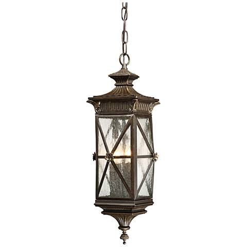 "Rue Vielle 22"" High Forged Bronze Hanging Outdoor Light"