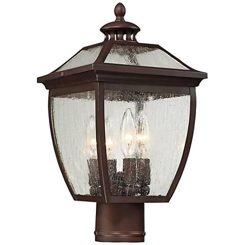 "Sunnybrook 16 1/4"" High Alder Bronze Outdoor Post Light"