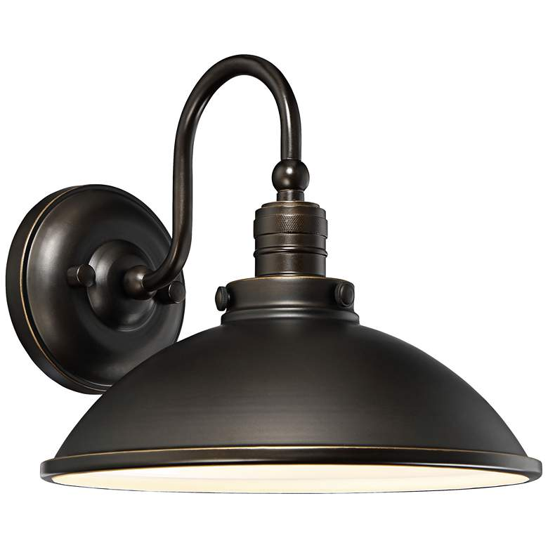 """Baytree Lane LED 9 3/4""""H Oiled Bronze Outdoor Wall Light"""
