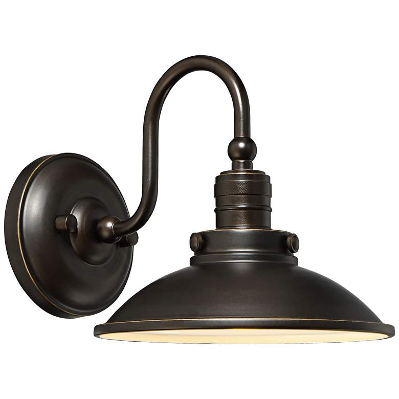 """Baytree Lane LED 8 1/2""""H Oiled Bronze Outdoor Wall Light"""