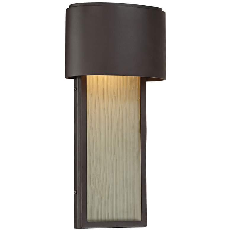 """Everton Rain LED 14 1/2"""" High Bronze Outdoor Wall Light"""