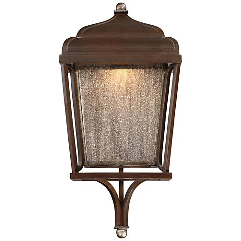"Astrapia II LED 19""H Rubbed Sienna Outdoor Wall Light"