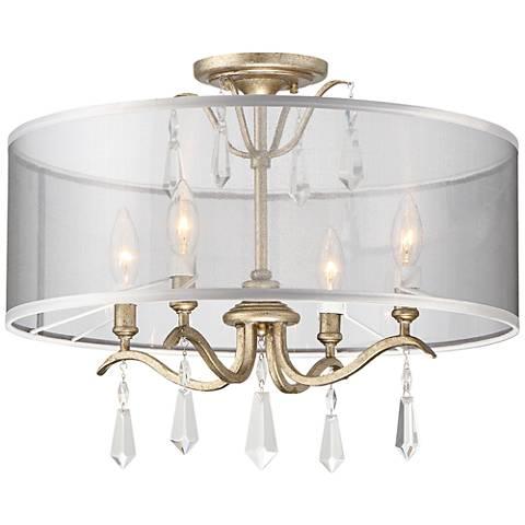 "Laurel Estate 20"" Wide Aged Brio Gold Ceiling Light"