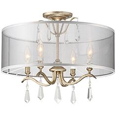 "Laurel Estate 20"" Wide Aged Brio Gold Ceiling Light"