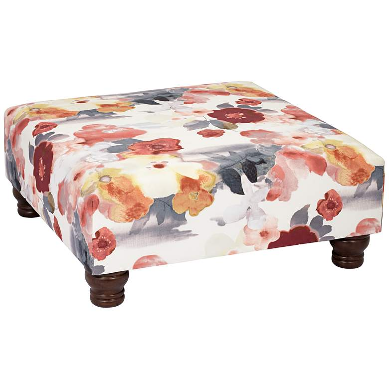 Dolores Paradiso Silver Shadow Square Cocktail Ottoman