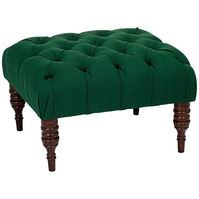 Corinna Klein Emerald Tufted Ottoman