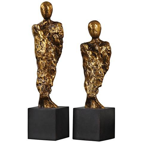 Uttermost Ruggiero 2-Piece Gold Sculptures Set