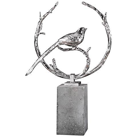 "Uttermost Rosana 19 1/2"" High Metallic Silver Statue"