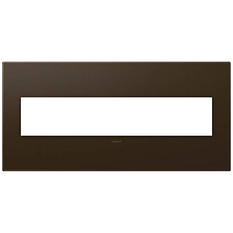 adorne® Bronze 5-Gang Snap-On Wall Plate