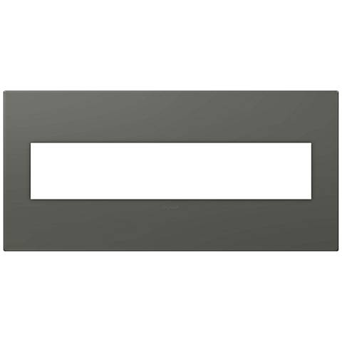 adorne® Moss Gray Soft Touch 5-Gang Snap-On Wall Plate