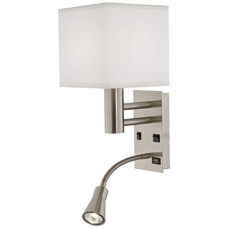9G644 - Headboard Mount Light with Gooseneck Reading Light L