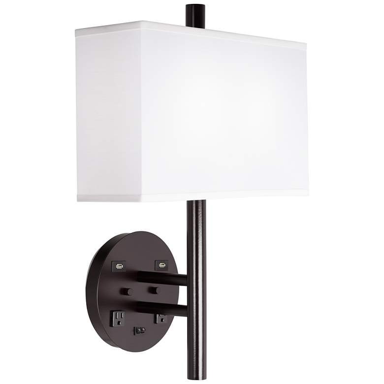 9G653 - Double - Headboard mounted wall lamp