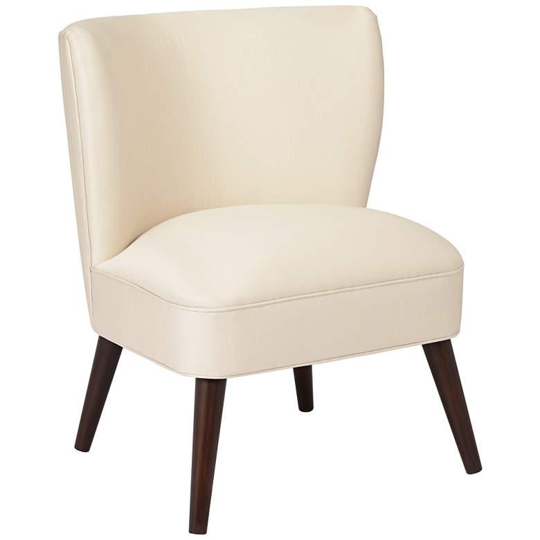 Chablis Shantung Parchment Modern Pleated Chair