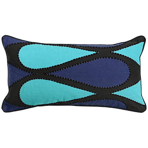 "AP Ginette Sky Blue 26""x14"" Decorative Pillow"