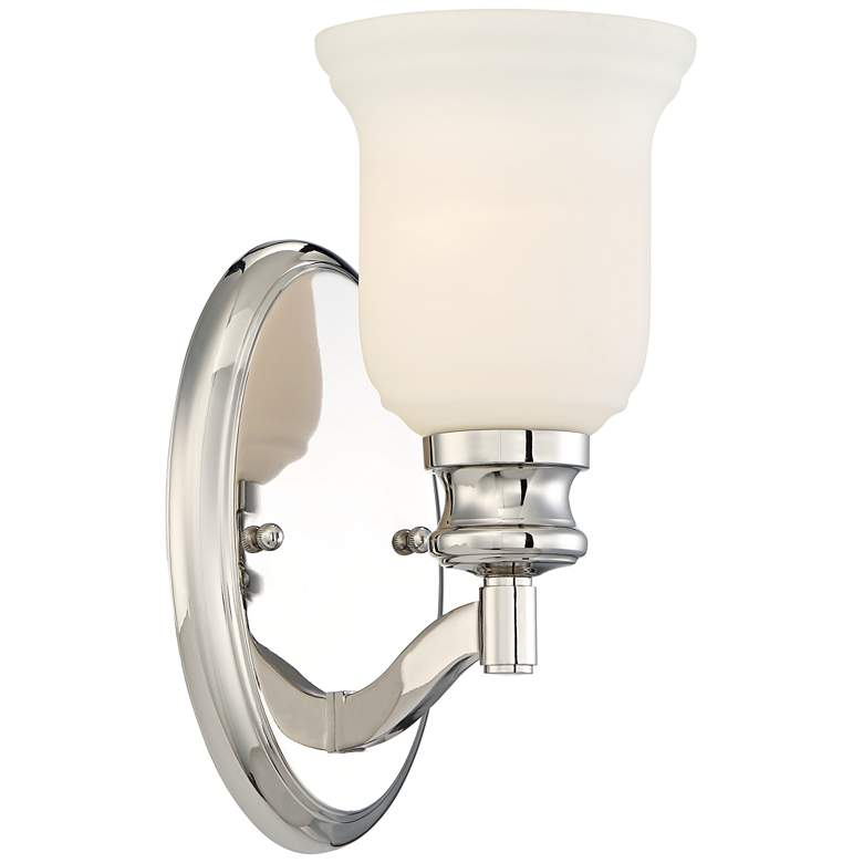 """Audrey's Point 10 3/4"""" High Polished Nickel Wall Sconce"""