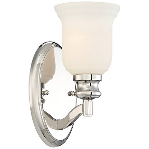 "Audrey's Point 10 3/4"" High Polished Nickel Wall Sconce"